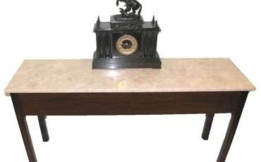 Georgian Marble Topped Mahogany Narrow Hall Table Loveantiques