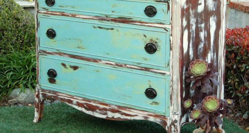 Get Shabby Chic Feel Distressed Wooden Dressers