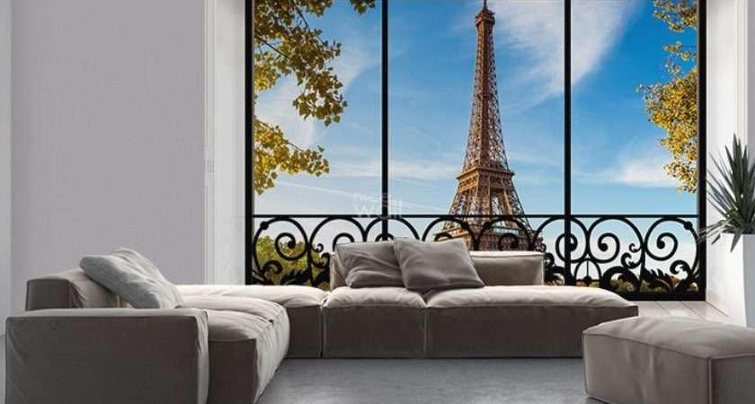 Giant Paris Eiffel Tower New York Citiscapes