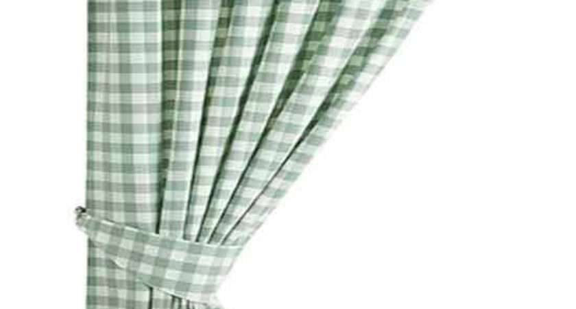 Gingham Green Country Check Ready Made Curtains