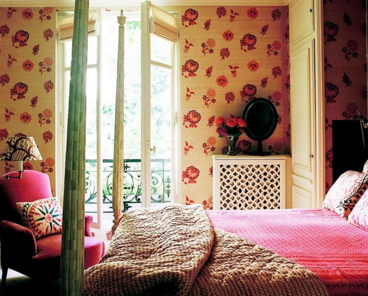 Girls Bedroom Grasscloth