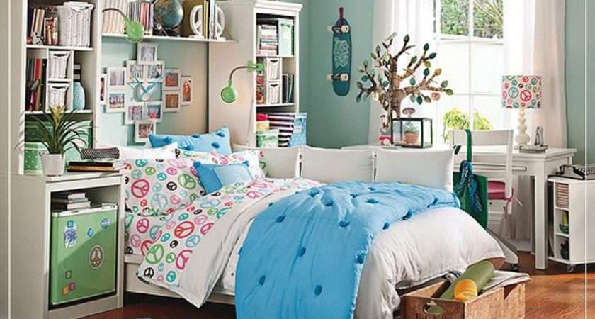 Girls Great Blue Green Colors Cool Teenage Girl Bedrooms