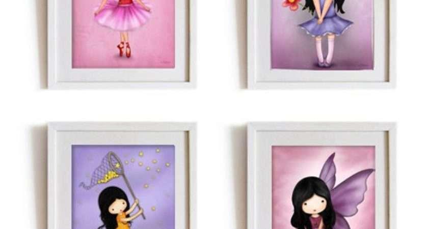 Girls Nursery Wall Art Print Poster Kids Room Decor