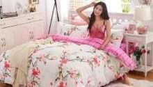 Girly Single Queen Bed Set Pillowcase Quilt Duvet