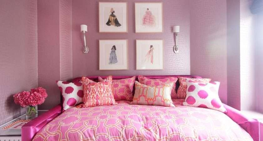 Glam Pink Girls Room Contemporary Girl