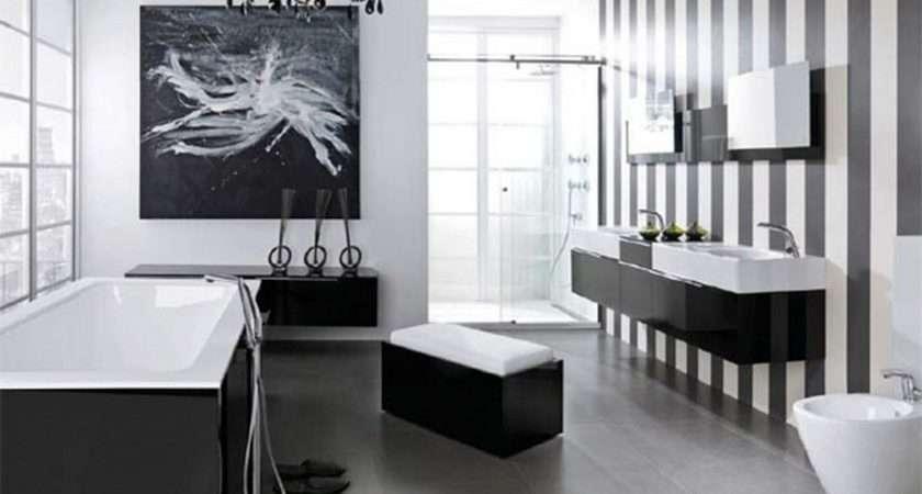 Glamorous Black White Bathroom Ideas