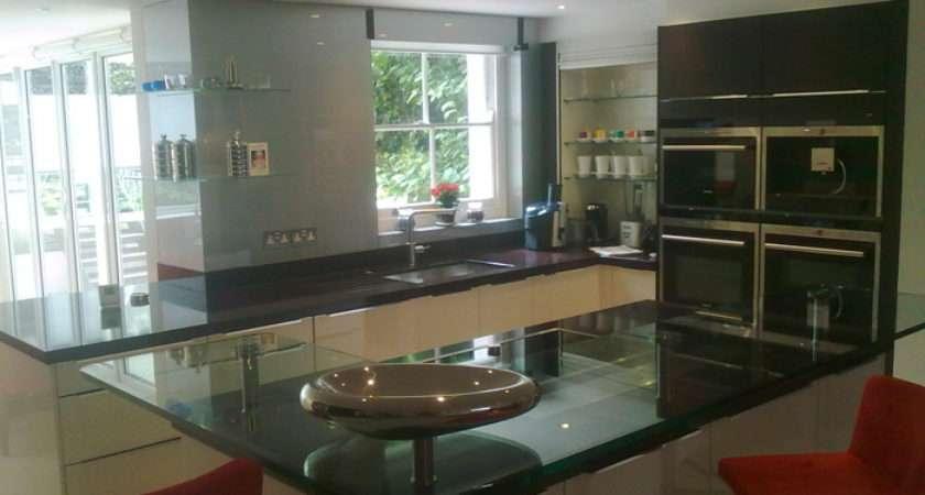 Glass Breakfast Bars Kitchen Essex Toughened