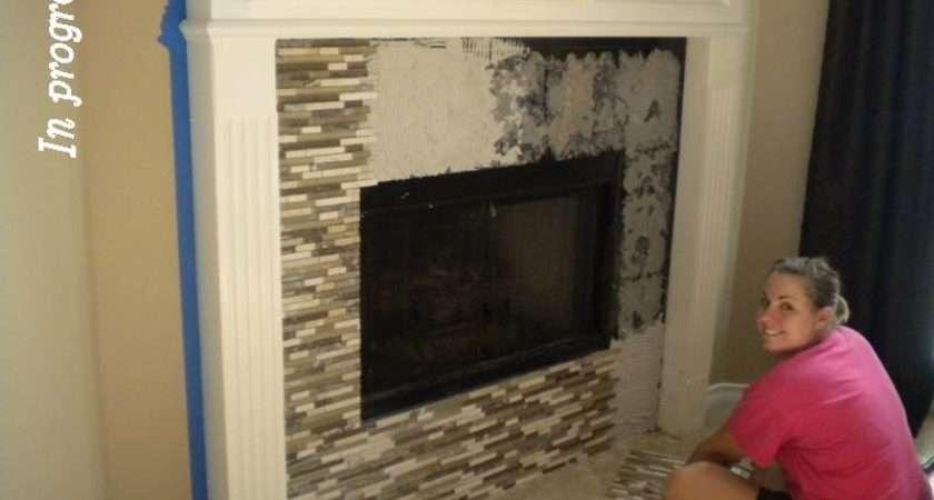 Glass Mosaic Tile Fireplace Life