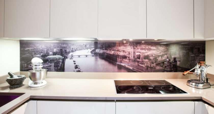 Glass Splashback Contemporary Kitchen