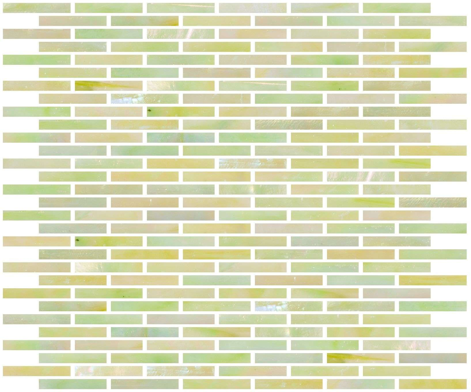 Glass Tile Inch Iridescent Apple Green Stained Subway