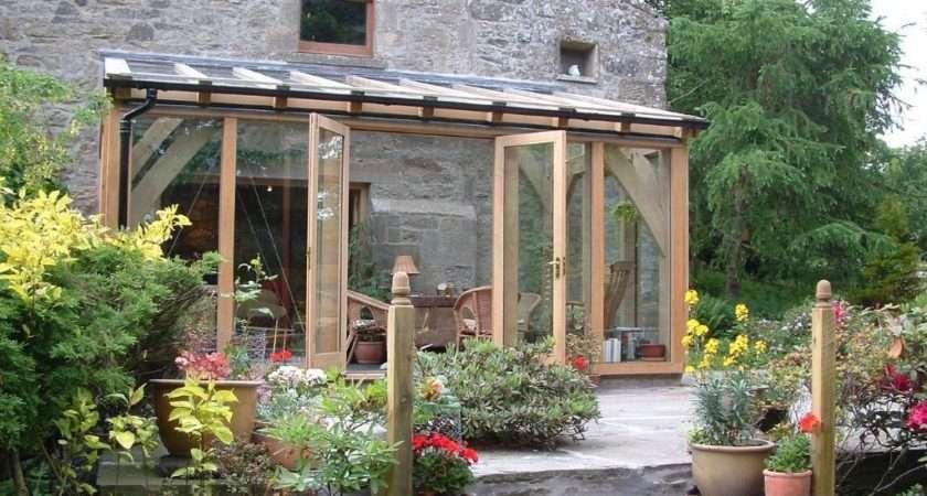 Glazed Green Oak Conservatory Extension Fife Scotland