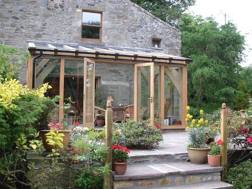 Glazed Green Oak Conservatory Extension Fife Scotland