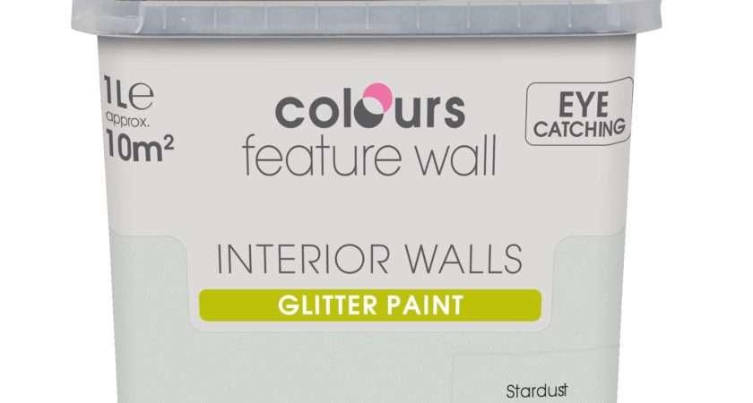 Glitter Paint Walls Sparkle Silver Texture