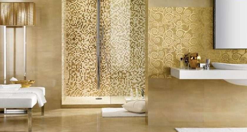 Gold Bathroom Design Mosaic