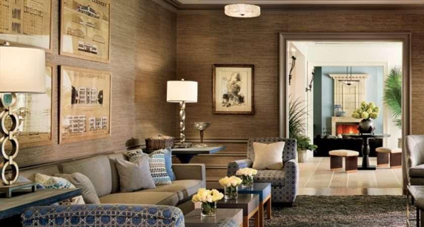 Gold Metallic Walls Decorating Living Room Decor Grasscloth