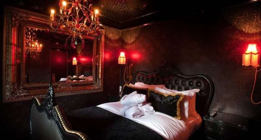 Gold Red Goth Room Black Bedrooms Gothic