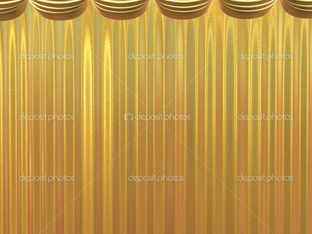 Golden Beautiful Curtains Articoufa
