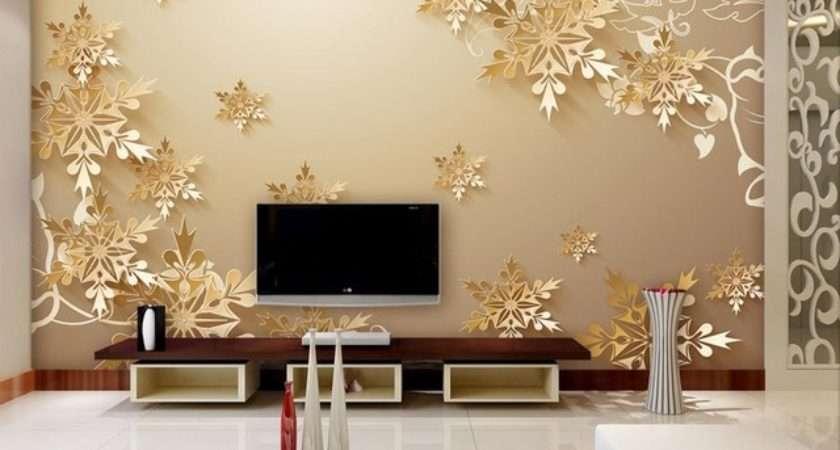 Golden Snowflakes Room Beautiful Bedroom