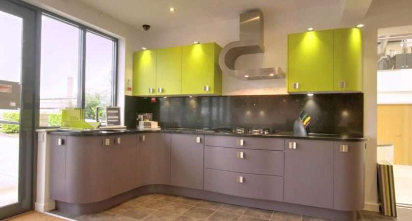 Good Lime Green Wall Paint Color Contemporary Kitchen