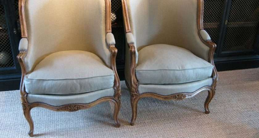 Good Pair French Tub Chairs Sofas Armchairs Occassional