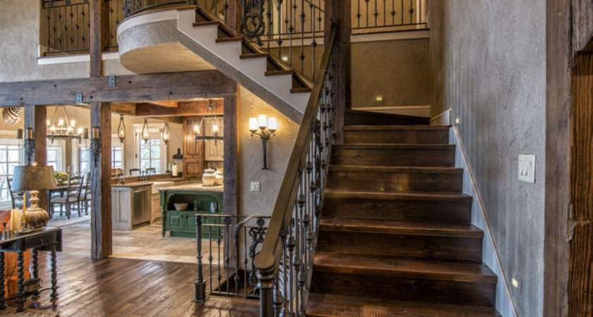 Graceful Rustic Staircase Designs Going Love