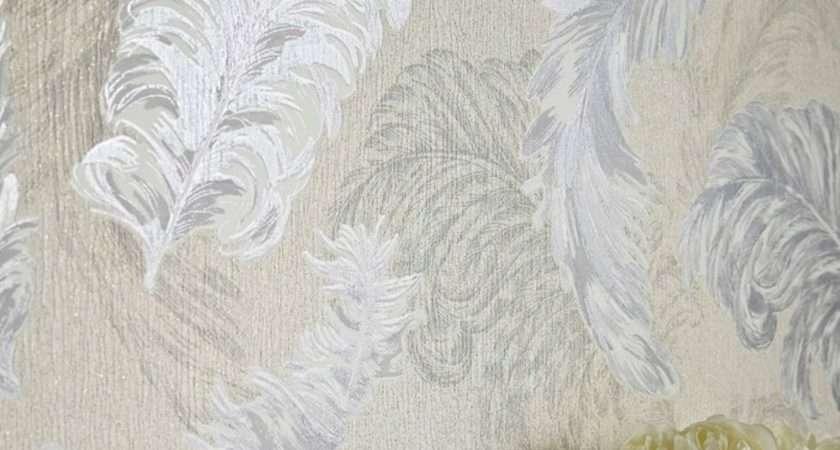 Graham Brown Gilded Feather Pattern Glitter Motif