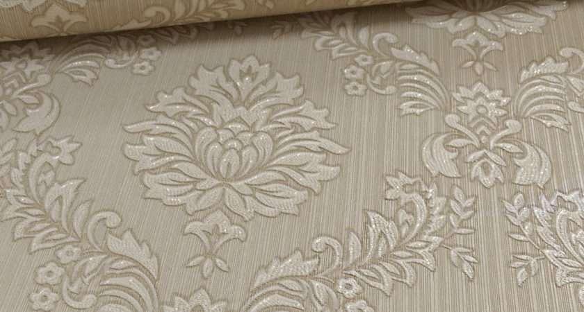 Graham Brown Jacquard Damask Pattern Floral Vinyl