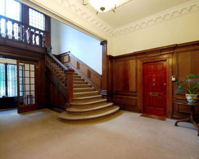 Grand Beige Blue Brown Red Entrance Hall Staircase