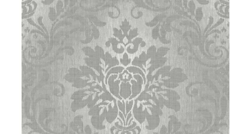 Grandeco Fabric Royal Damask Pattern Glitter Motif