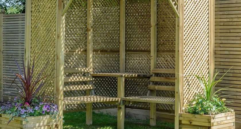Grange Valencia Pressure Treated Wooden Corner Arbour Seat