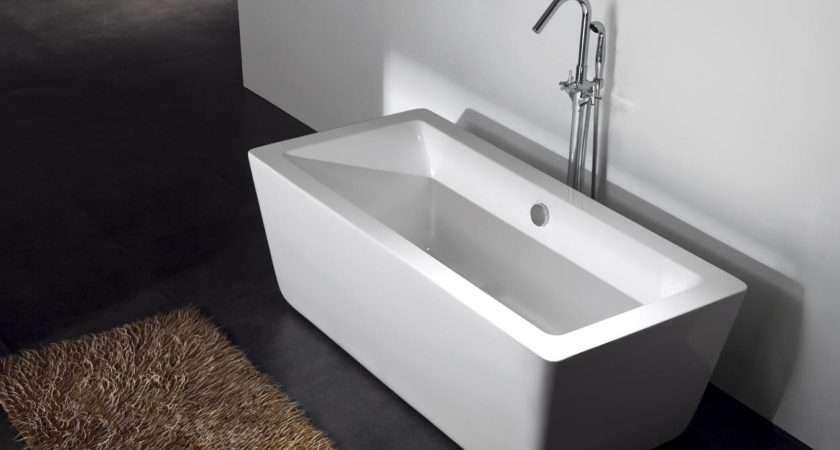 Gratziella Acrylic Modern Bathtub Freestanding Soaking Tub