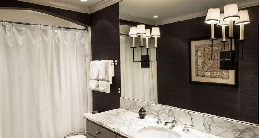 Gray Black Bathroom Design Contemporary