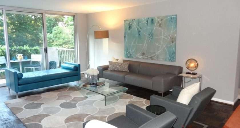 Gray Blue Modern Living Room Allen Neutral