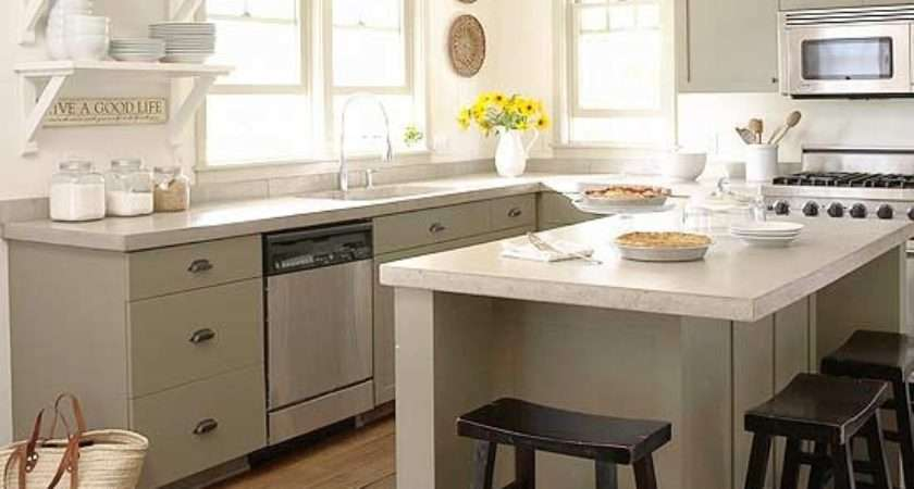 Gray Green Kitchen Cabinets Eclectic