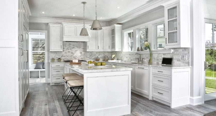 Gray Kitchen Floors Transitional Vita Design