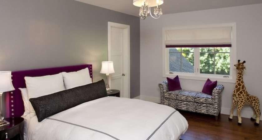 Gray Purple Room Contemporary Girl
