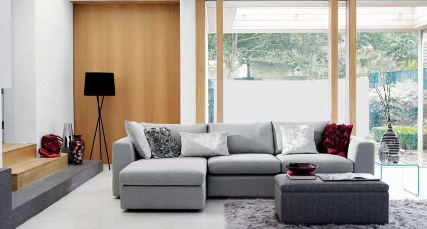 Gray Red Living Room Ideas