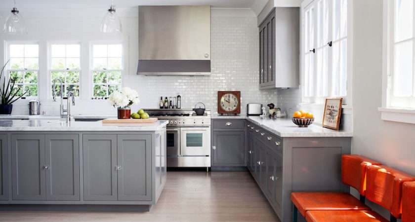 Gray Shaker Kitchen Cabinets Contemporary