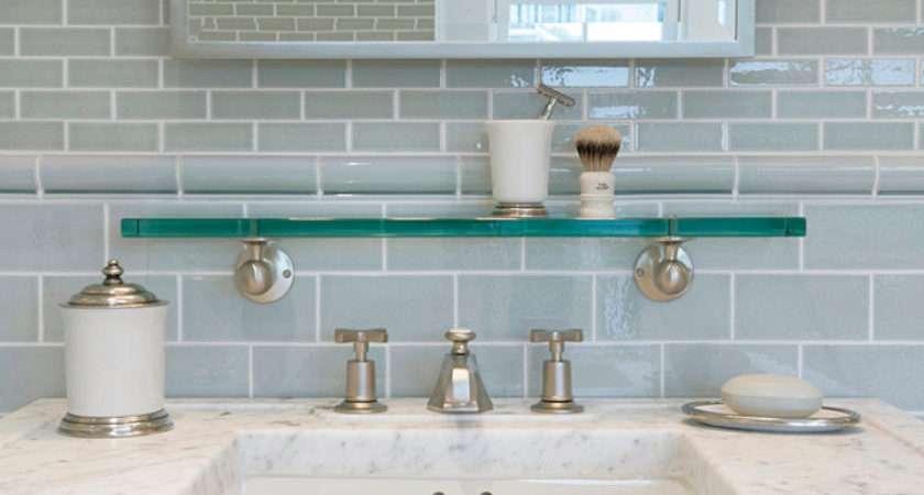 Gray Subway Tile Backsplash Contemporary Bathroom Mabley Handler