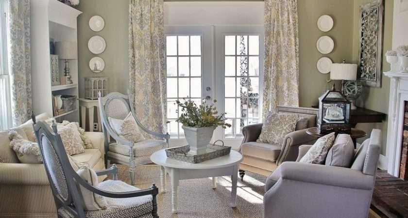 Gray White Yellow Living Room