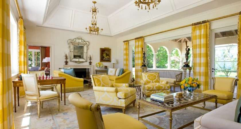 Gray Yellow Living Room Decoration Ideas