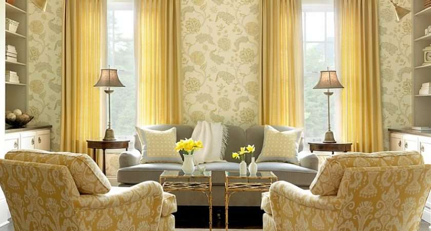 Gray Yellow Living Rooms Photos Ideas Inspirations