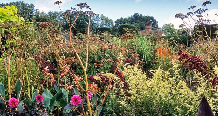 Great Dixter Gardens Sussex England Vibrant Densley