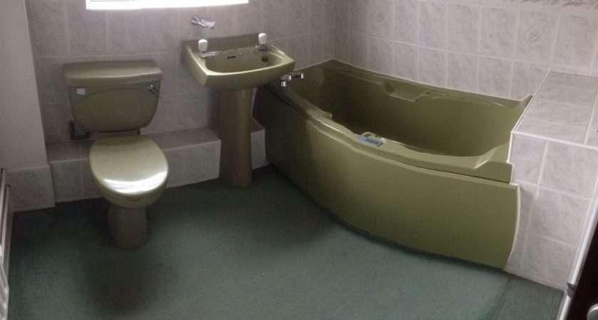 Green Bathroom Suite Avocado Ebay