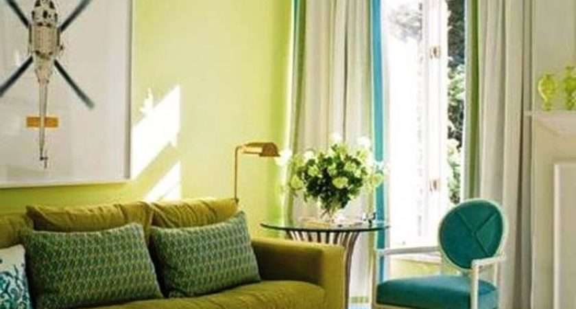 Green Blue Living Room Ideas Pale Wall