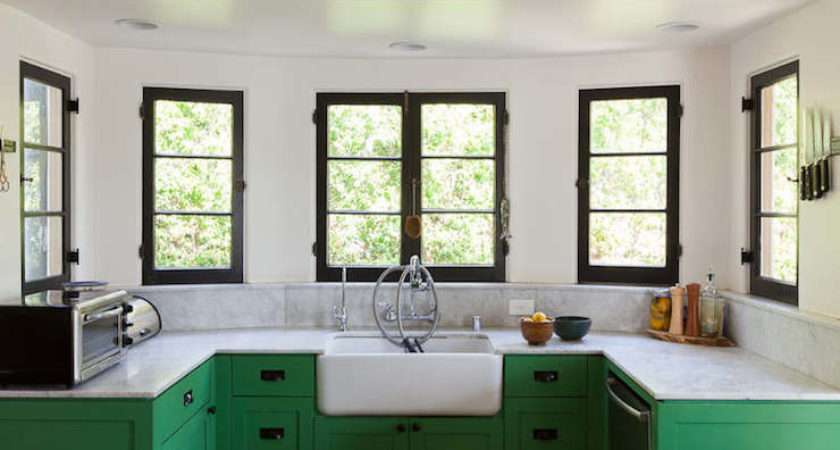Green Cabinets Eclectic Kitchen Bestor Architecture