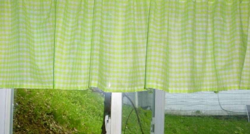 Green Gingham Curtains Home Honoroak