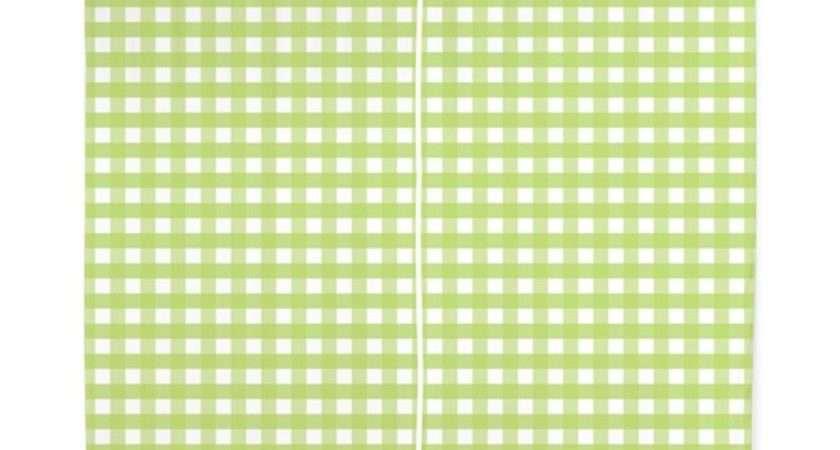 Green Gingham Pattern Curtains Cuteprints