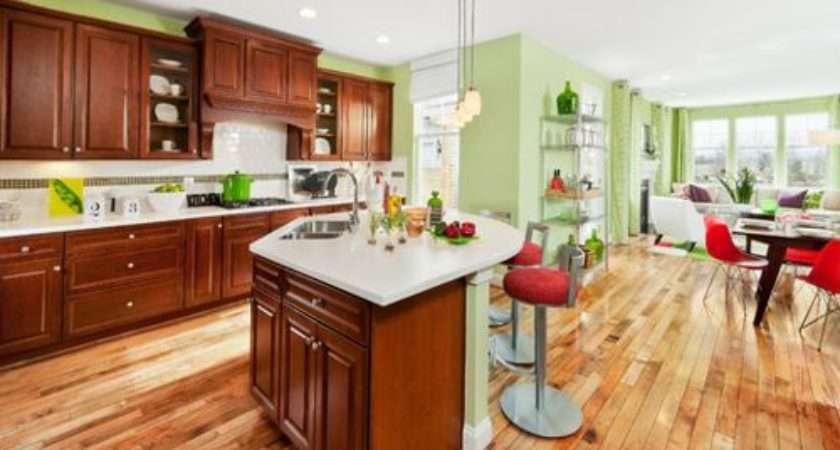 Green Kitchen Wall Houzz