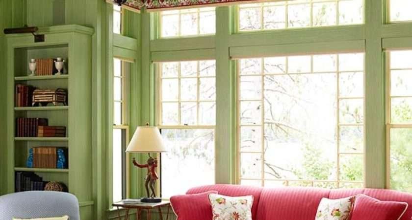 Green Living Room Design Ideas